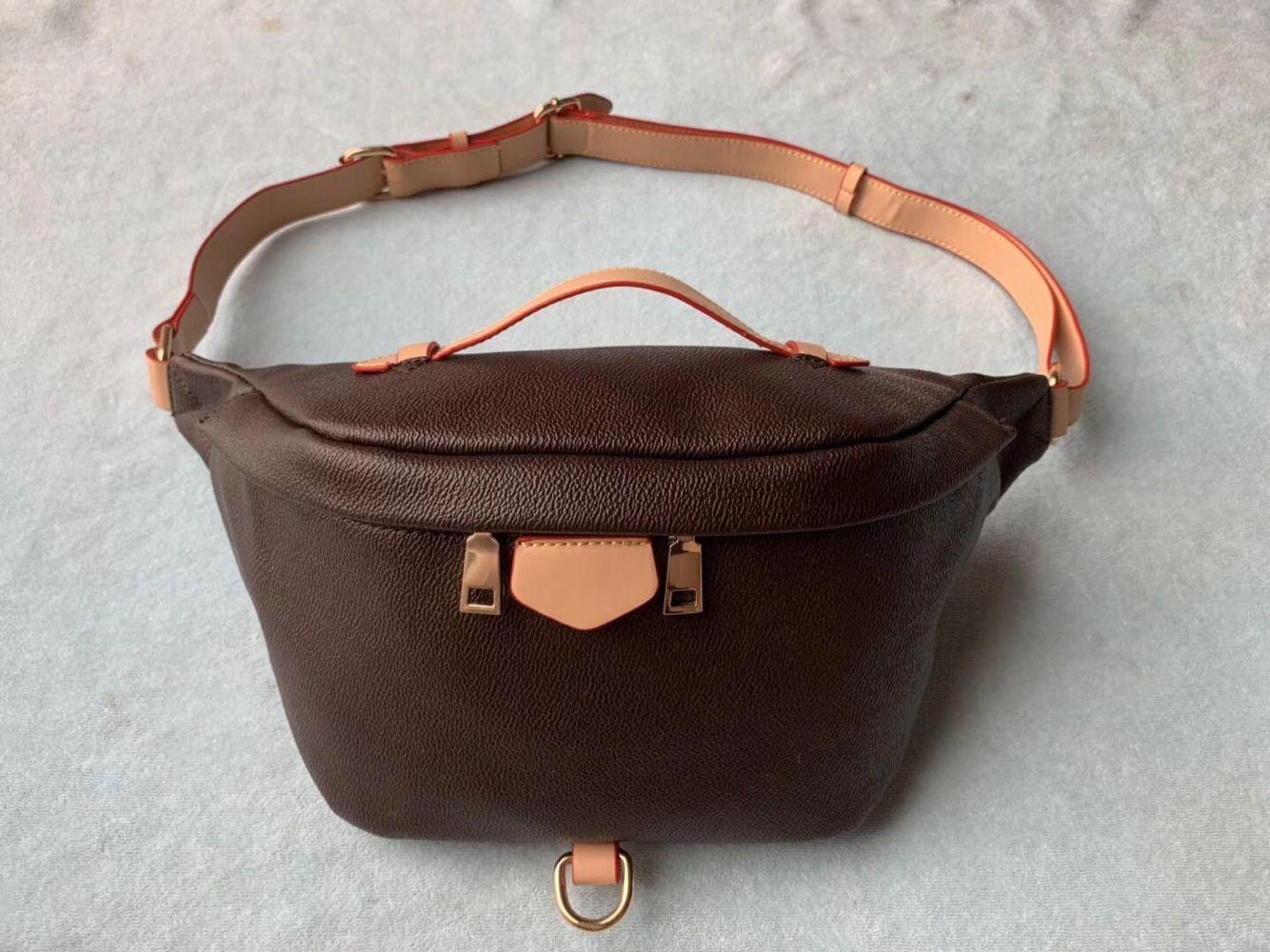 Grátis Design cintura saco preto couro Coração de cintura Bolsa carteira Mulheres Red saco da cintura crossbody M43644 # 5188