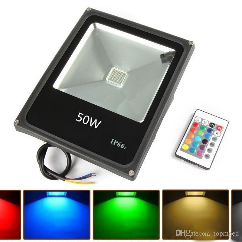 RGB / Chaud / Froid torchis LED blanche 10W 20W 30W Projecteur 50W Projecteur LED LED extérieur