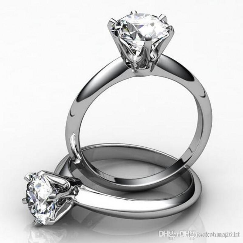 Wedding Round Cut Pink & White Topaz Gemstone Silver Goldplated Ring Size 6 7 8