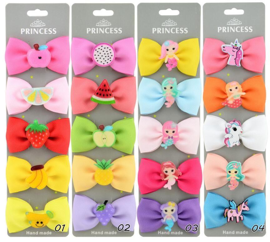 Niña nueva moda colorido cabello barrettes niños fruta unicornio estilo accesorios para el cabello niños pelo garras clips baby arcos regalo ylc 035