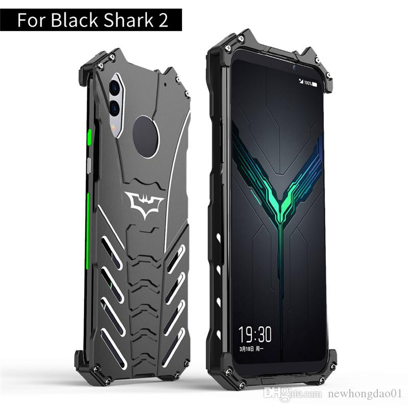 R-JUST Protect Phone case for XIAOMI BLACK SHARK 2 Helo 2 pro Metal Aluminum Shockproof Dropproof Cover Armor anti-knock cases