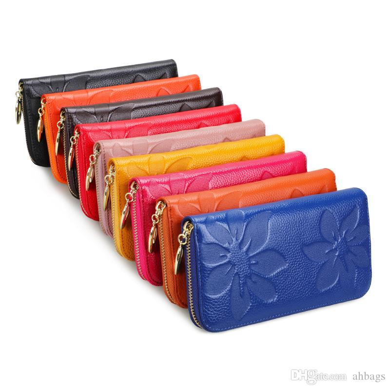 Lady Wallet Long handbag Manufacturers sell leather bags directly Korean version of women's Wallet