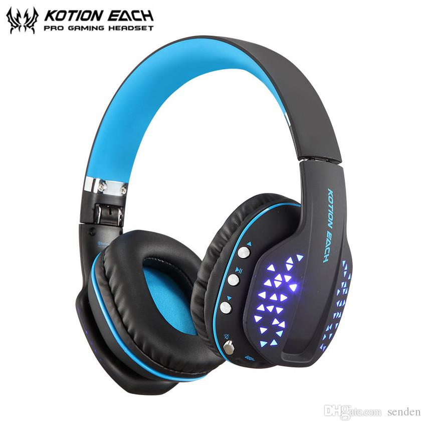 Kotion Each Light Up Bluetooth Headphone Foldable Wireless Deep Bass Stereo For Ps4 Gaming Headset With Mic Led Earphone Handsfree Mic Phone Wholesale Earbuds Cell Phone Bluetooth Headset From Senden 19 1 Dhgate Com