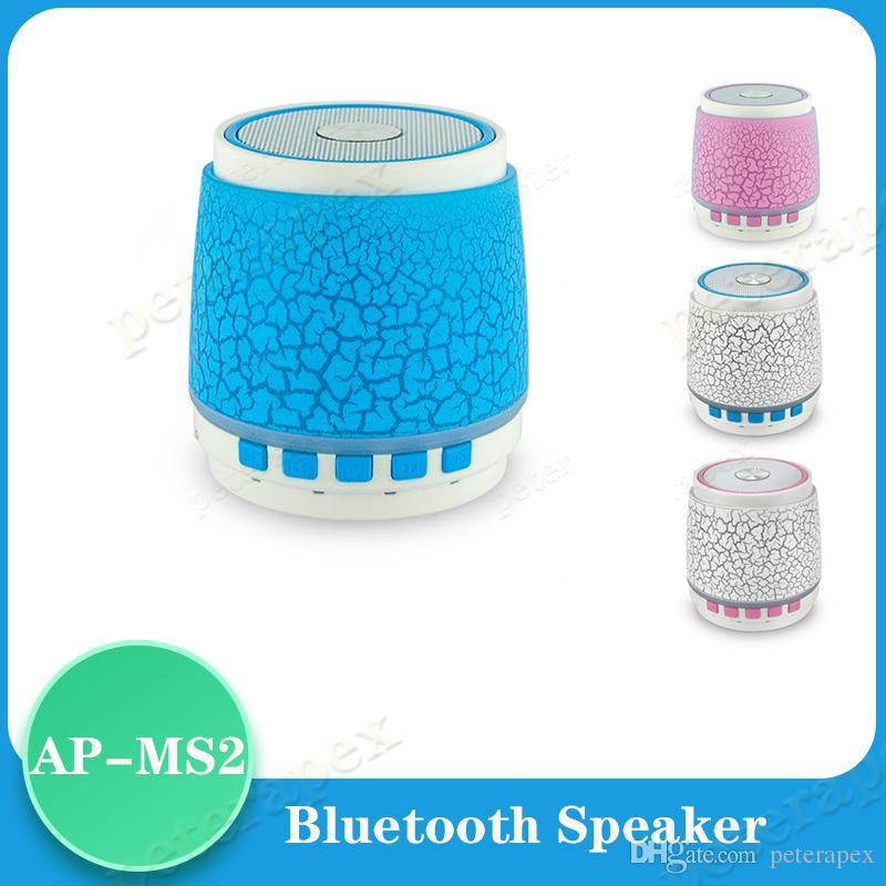 100x esterna Bluetooth audio luci variopinte senza fili Bluetooth Speaker S2 Crack plug-in della carta subwoofer MP3 Music Player