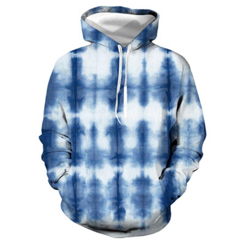 Tie-Dye-Mann Hoodies Art und Weise Frühling 3D Digital Printing Sweatshirts Langarmshirts Designer New Männer Sport beiläufige Pullover Strickjacke Hoodies