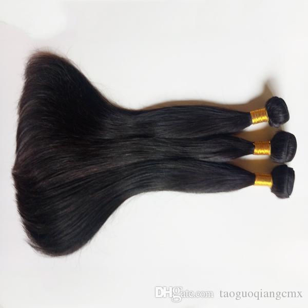 브라질 처녀 인간의 머리 짜 3PC 많은 레미 인도 싼 헤어 확장 뜨거운 판매 7A 등급 페루 인간의 자연 스트레이트 머리를 씨실