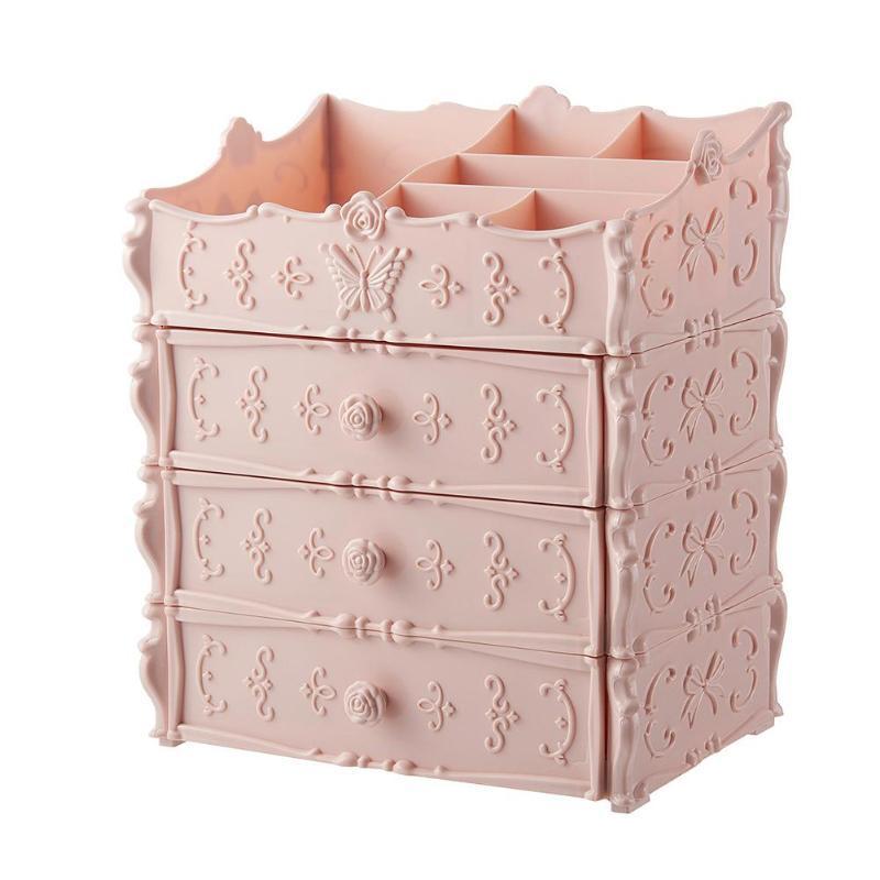 3 Schicht Schublade Kunststoff kosmetischer Aufbewahrungsbehälter Kosmetiktisch Sundries Organizer