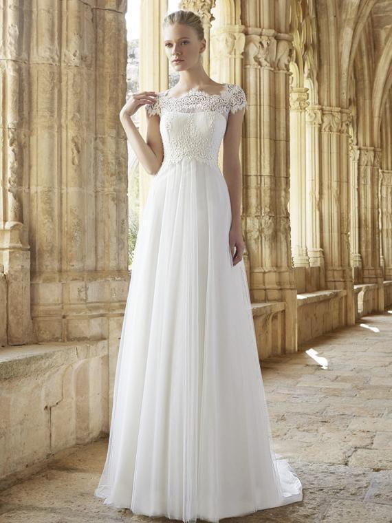 Сексуальная иллюзия Jewel Deckline A-Line Sheer свадебные платья из бисером кружева пушистые иллюзия Без спинки принцессы Bridal Ball Pramse
