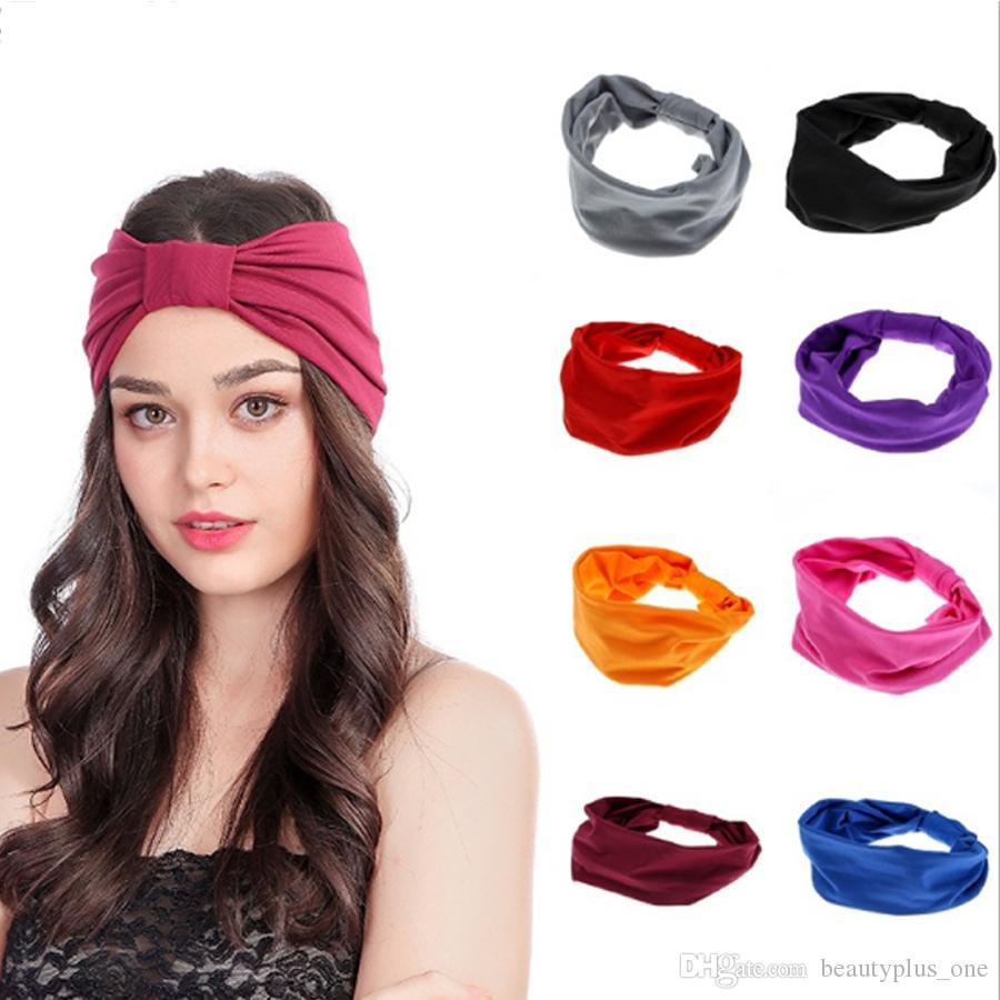 Elastic Women Sport Headband Under Sweat Wicking Stretchy Athletic Bandana Headscarf Yoga Headband Head Wrap Hair Accessories