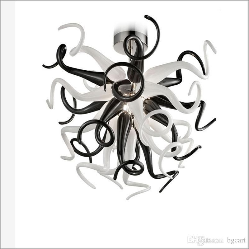 مصغرة نمط chihuly درج طويل الثريات مصباح ارتفاع السقف الزخرفية الفن الزجاج المصباح اليدوية مصابيح الديكور
