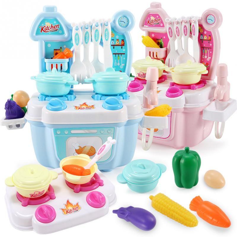 Дети Притворись Play Cooking Toy Set Имитация Овощей Посуда Игрушки 125 Шт. Пластиковые Фрукты Растительное Питание Развивающие Игрушки подарок