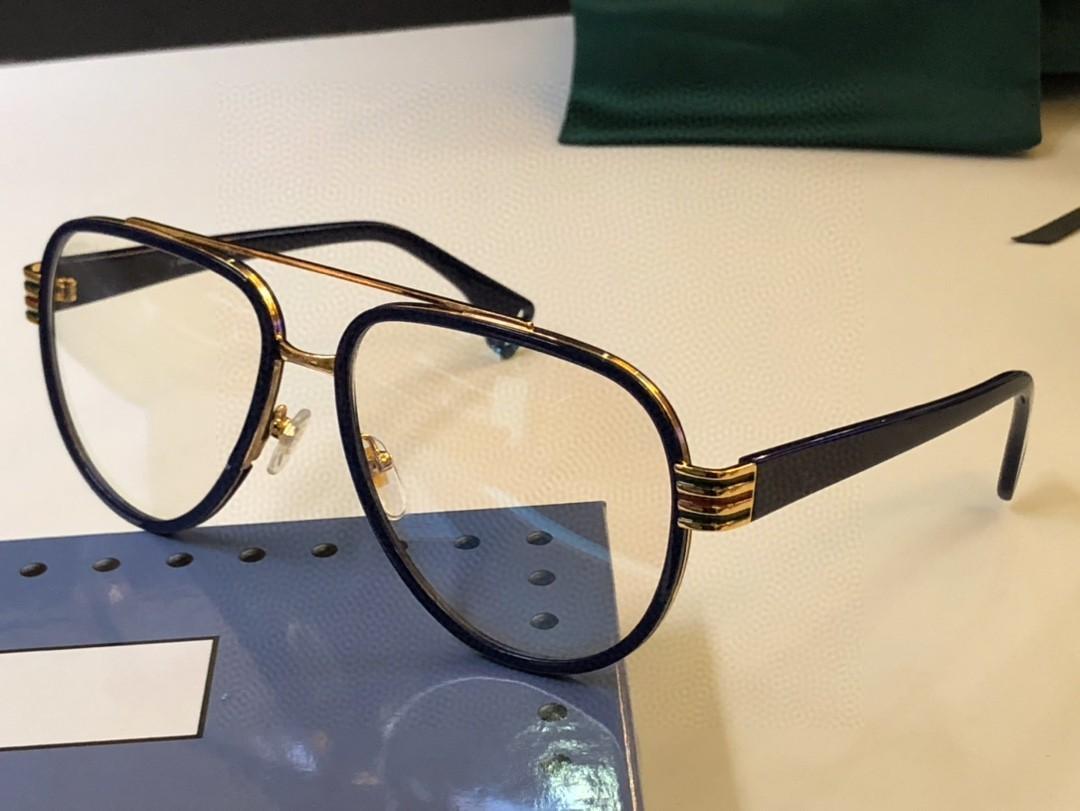 Quadro Eyeglasses Lente Clear Óculos Eyeglass Frames Homens Quadro Eyeglasses Mulheres Óculos Quadro 0447 Oculos com Caso Vkkwr