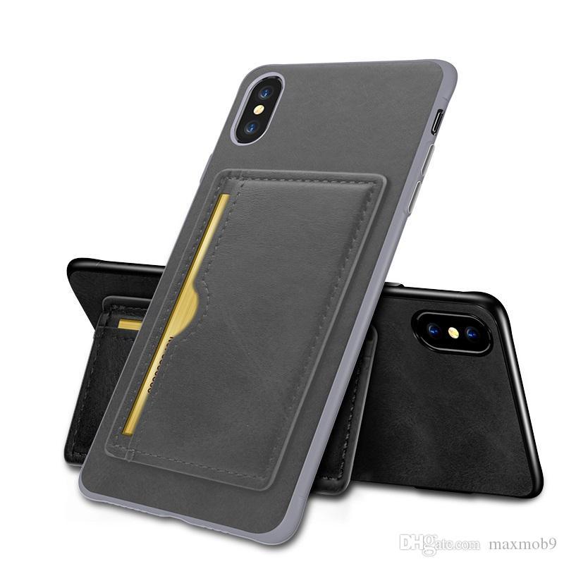 Ledertasche für iphone 11 pro XR XS MAX X 6S 7 8 Plus se 2020 neue Luxus-Handy Fall Kreditkartenfächer Tasche Kippständer