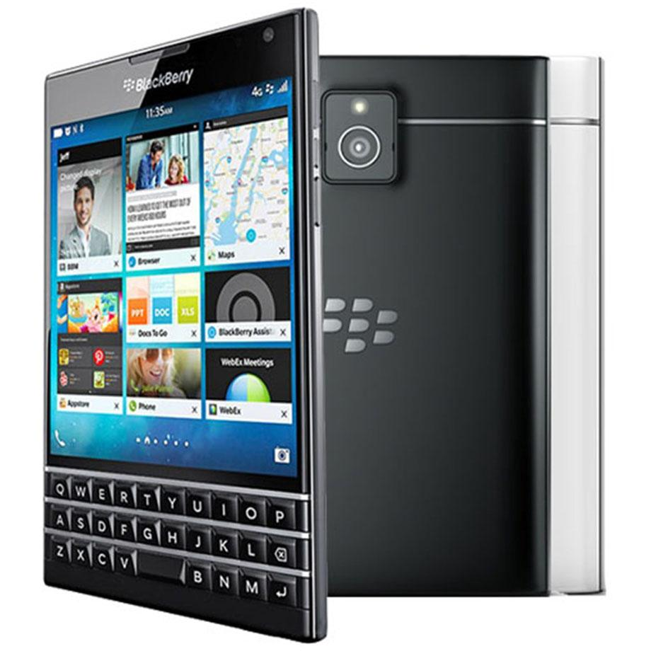 Refurbished Original Blackberry Passport Q30 4.5 inch Quad Core 2.2 GHz 3GB RAM 32GB ROM 13MP QWERTY Keyboard 4G LTE Smart Phone DHL 10pcs