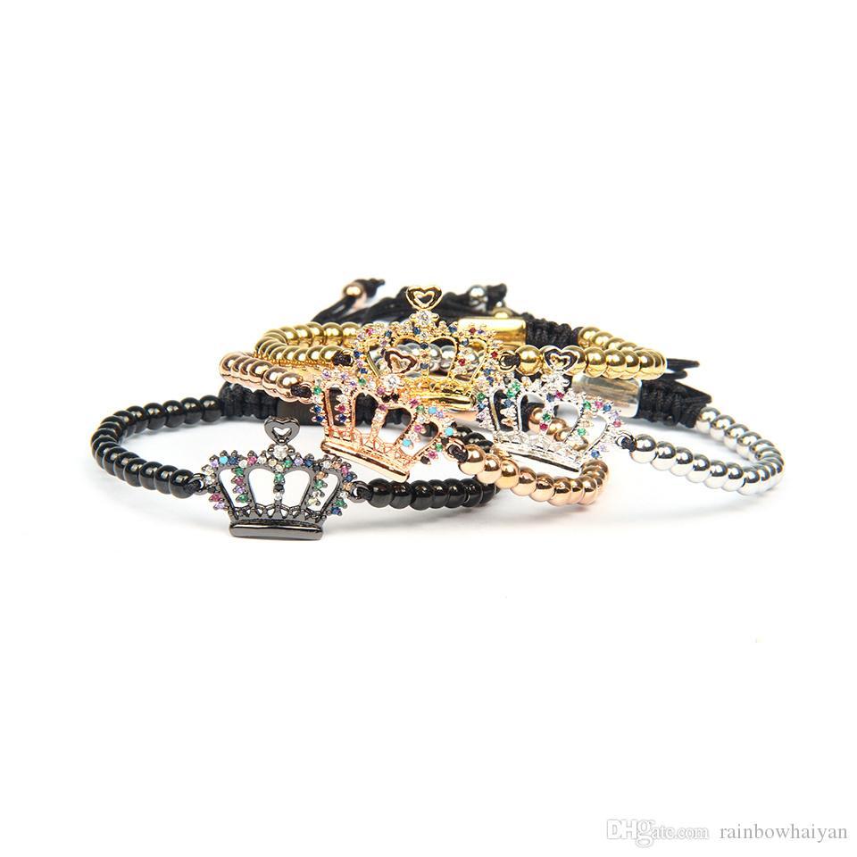 المجوهرات النسائية أساور مجوهرات الذهب والفضة تشيكوسلوفاكيا متعددة الألوان سوار ولي 4MM الفولاذ المقاوم للصدأ للحصول على الأزواج