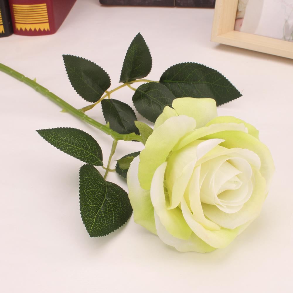 10 филиал искусственные цветы бархат цветок розы для свадьбы домашнего офиса украшения партии DIY цветочная композиция аксессуары Флорес