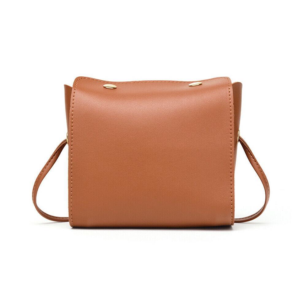 2019 Nouveau mode Téléphone Casual Coin épaule Petit Sac femmes PU Messenger Sacs en cuir solide d'embrayage solide Mini sac à bandoulière