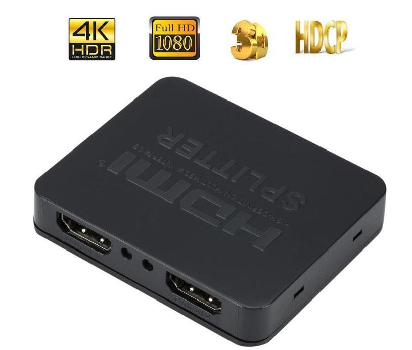 التبديل الترا HD 4K HDMI الفاصل كاملة HD 3D 1080P فيديو HDMI الجلاد 1X2 سبليت 1 في 2 من أصل مكبر العرض المزدوج للDVD HDTV PS4
