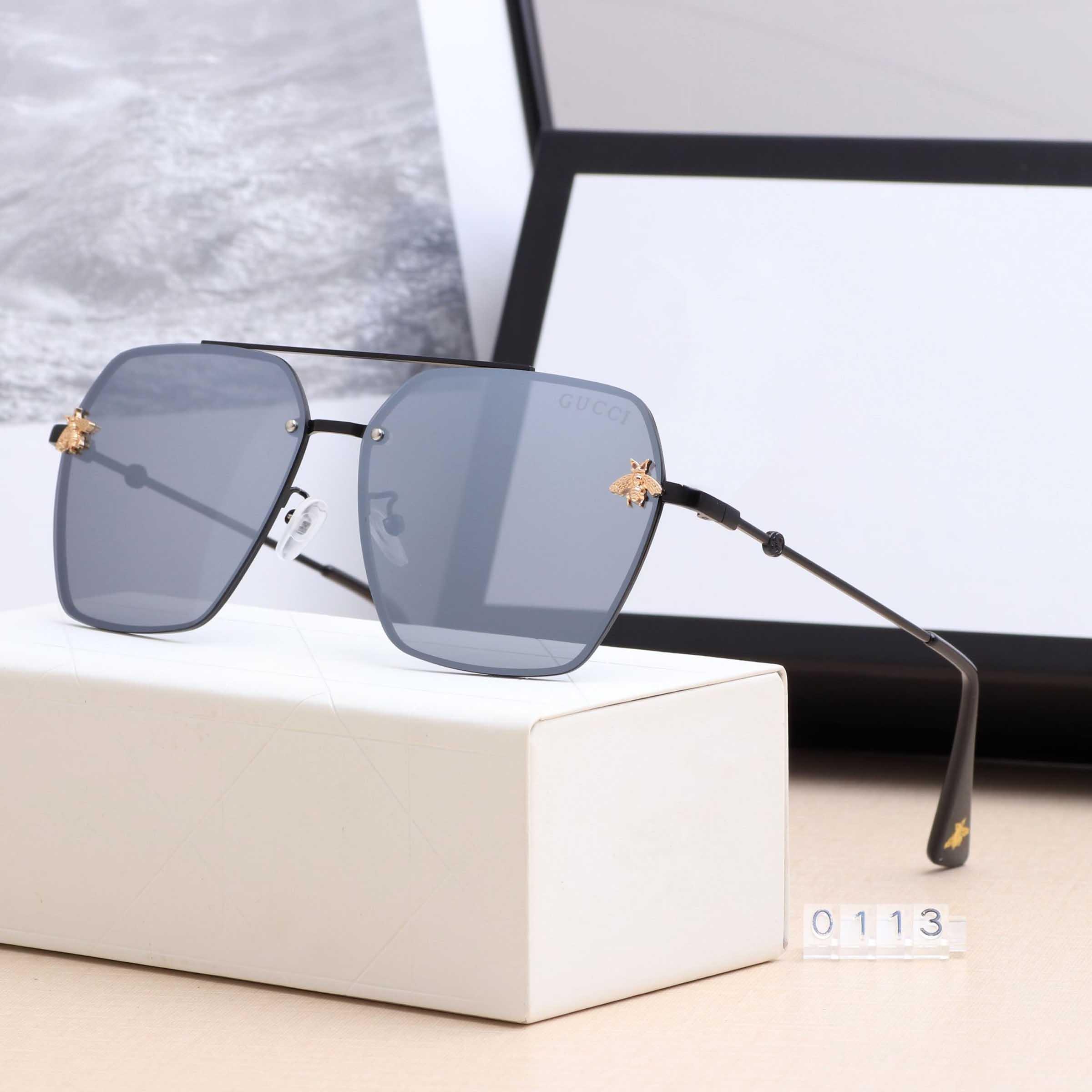 2020 الاستقطاب الاتجاه النحل أزياء النظارات الشمسية فوق البنفسجية 0113 القيادة النظارات الشمسية أعلى الفاخرة العلامة التجارية الرجال نظارات العناية بالعين أزياء ذات جودة عالية