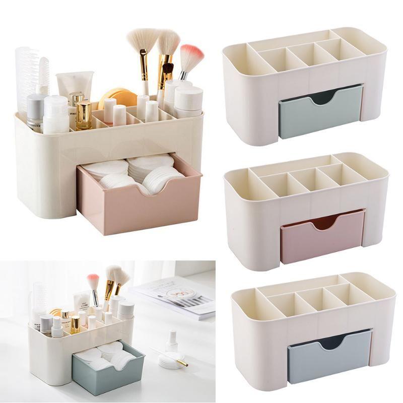 CYSINCOS Kunststoff Make-up Organizer-Box Schmuck-kosmetischer Aufbewahrungsbehälter mit Schublade Acryl Lippenstift-Halter-Kasten-Behältern Sundries