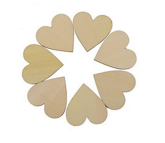100 unidades embalar Mini madeira Amor Presente Coração Shapes Fazendo Decor Scrapbooking Craft Cartão 20x20mm Madeira Artesanato