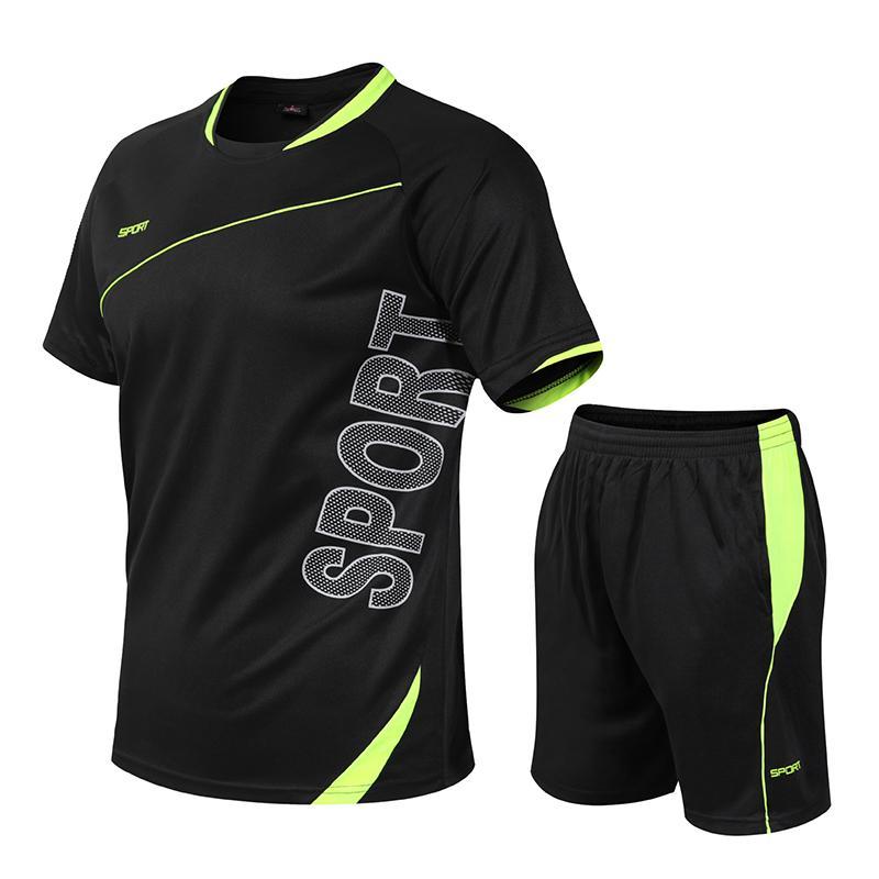 Koşu Formalar Erkek Kadın Çocuklar T Gömlek Hızlı Kuru Spor Eğitim Giysileri Spor Salonu Futbol Forması Katı Spor Seti Spor Takımları