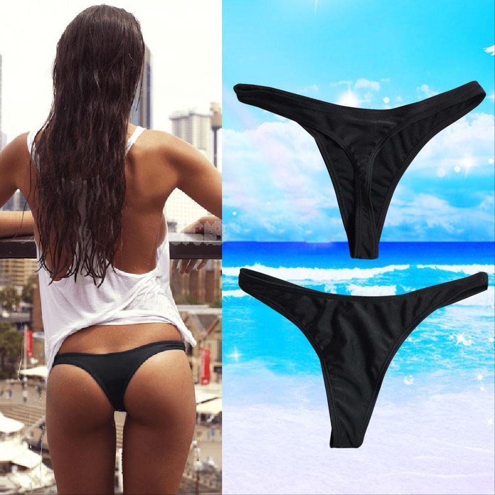 2020 New Style Fashion Hot Women Sexy Solid Bikini Brief Swimwear Beach Bathing T-Back Bottom Thong G-string