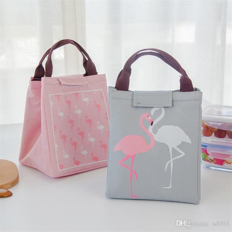 피크닉 Bento 가방 휴대용 열 절연 가방 방수 냉각 가방 만화 새 노래와 꽃이 피는 알루미늄 케이스 패션 4 5lc k1