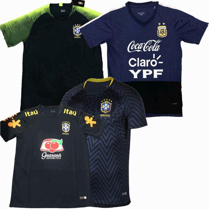 Top neues 2019 2020 2021 Brasilien Argentinien Fußball-Trikots beiläufigen T-Shirts Fußballtrainingshemd