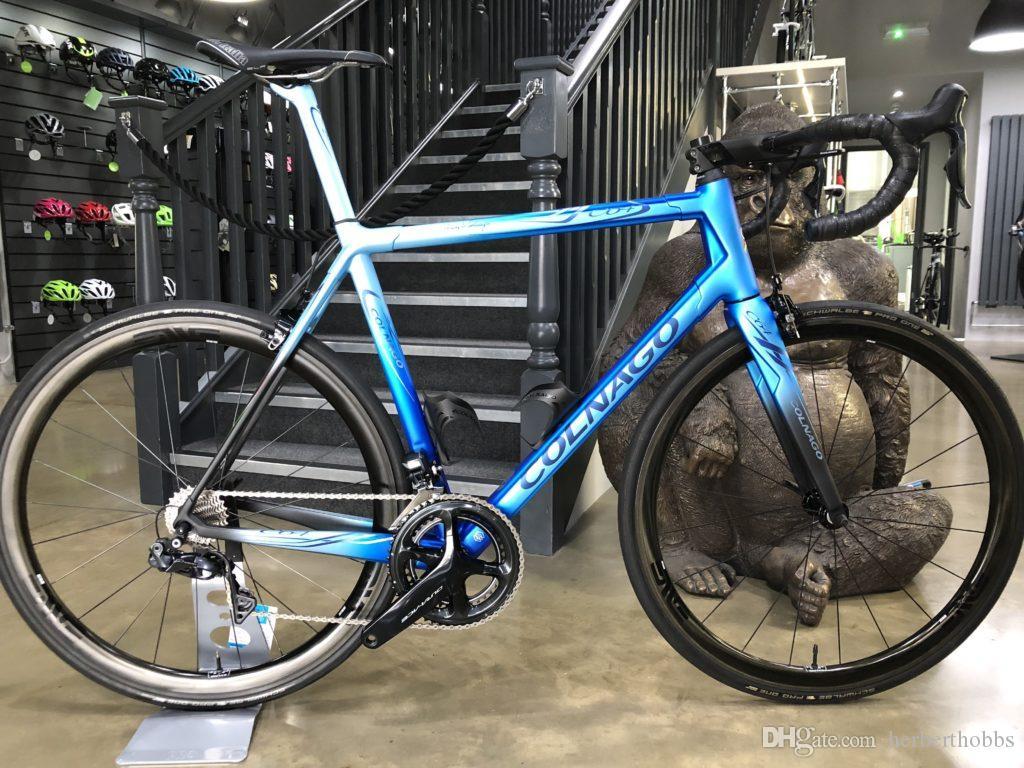 2019 Colnago art decor blue black glossy frame BDBL bicycle Road complete Bike Original ULTEGRA groupset