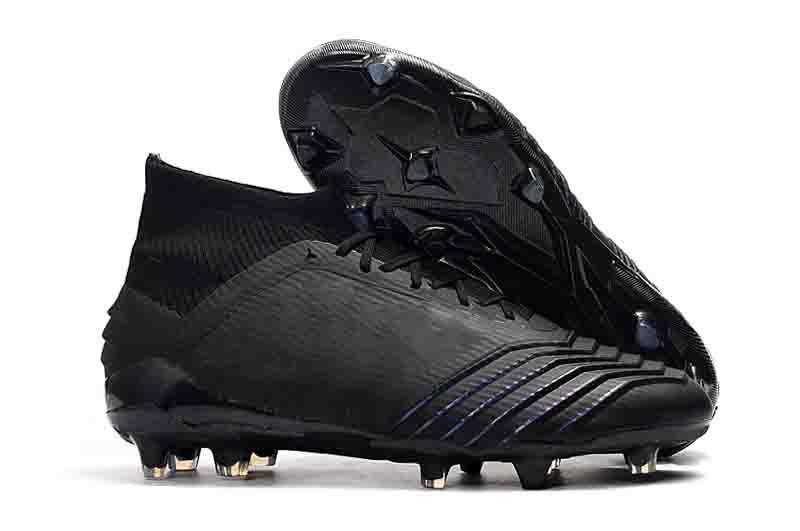 2019 25ème Predator 19+ 19.1 Pogba Hommes FG Bottes de Football Virtuso Rouge Noir Crampons de Football Haute Chaussures de Cheville Chaussures