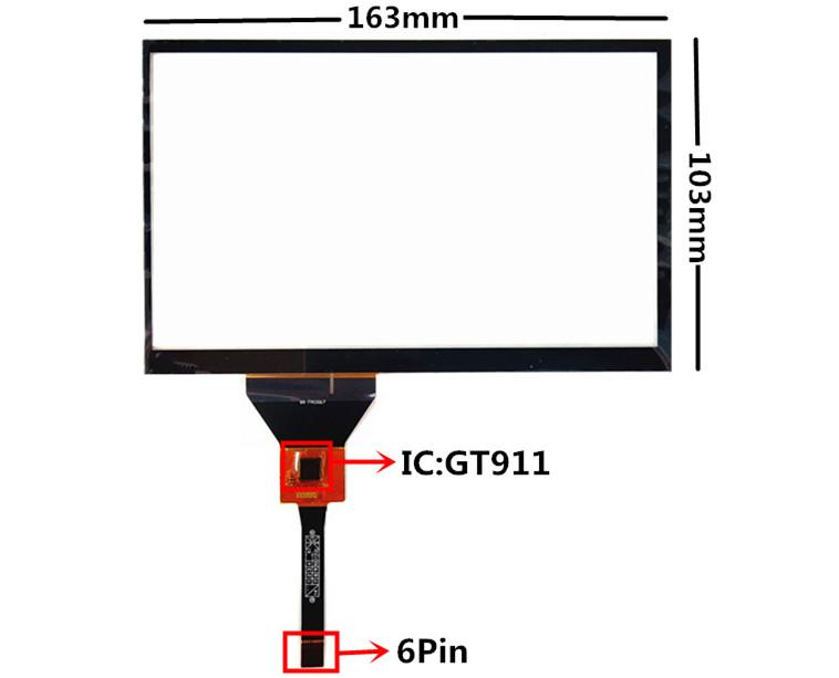 7.1 inch BR FPC0017 Capacitive Touch Digitizer for Car DVD GPS navigation multimedia Touch screen panel Glass