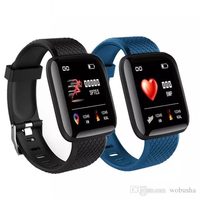 D13 intelligente Guarda 116 più intelligente Bracciale di pressione sanguigna Tracker fitness Fitness Sport Banda intelligente Wristband frequenza cardiaca Smartwatch