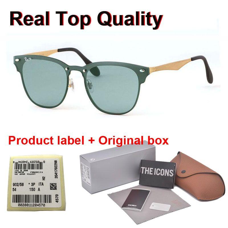 En kaliteli Perakende vaka ve etiket ile marka tasarımcı güneş gözlüğü erkekler kadınlar Marka Tasarımcı Alaşım çerçeve Ayna UV400 mercek óculos De Sol