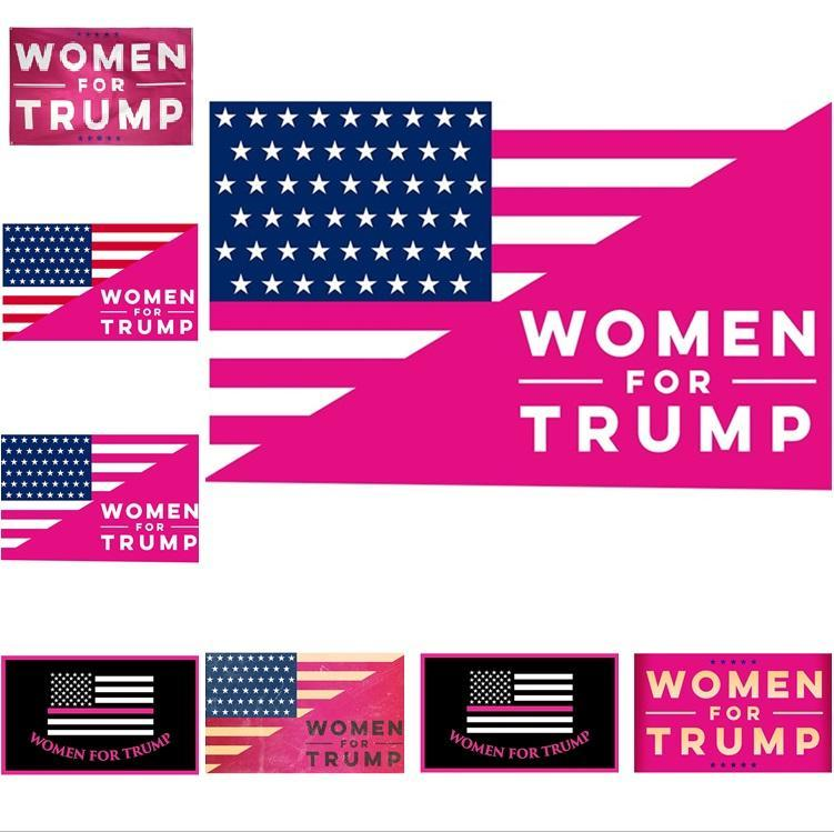 Trump Bayrağı 150 * 90cm Polyester Pembe Donald Trump Başkan Banner Bayraklar Kadın 6 Styles 6050 Ev Dekorasyon