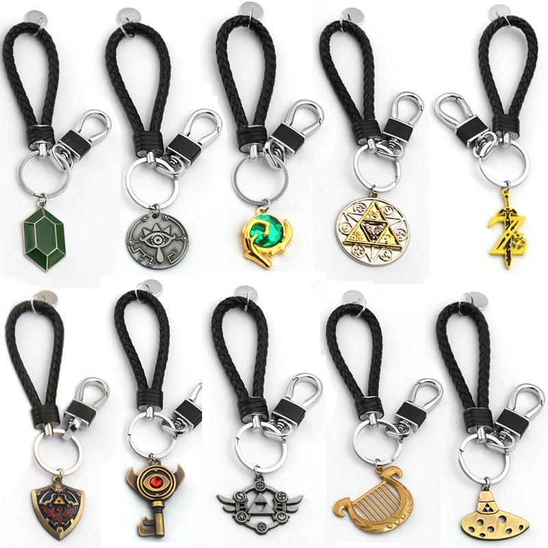 Zelda Anahtarlık Majora Maske Nefes Yabani Göz Chaveiro Shield Anahtarlık kolye İçin Erkekler Kadınlar Araba anahtarı Tutucu Efsanesi
