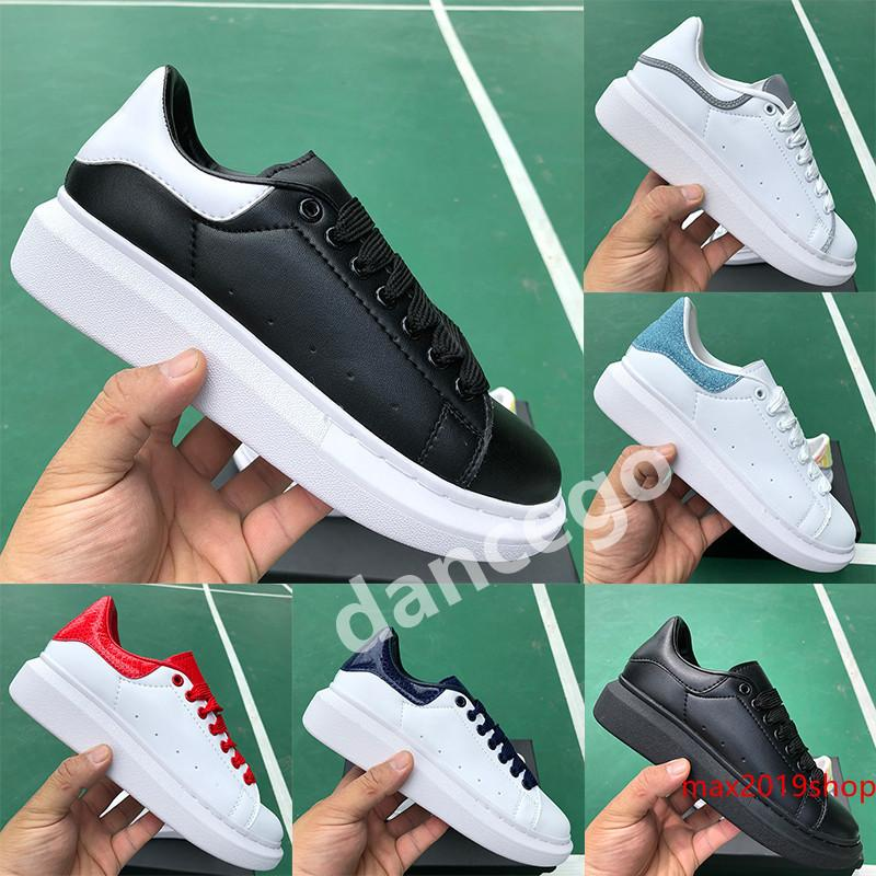 With Genuine Leather Men Luxury Designer Shoes Mens Womens 3M Reflective Iridescent Triple Black Silver Snake Skin Tail Fashion Sneakers
