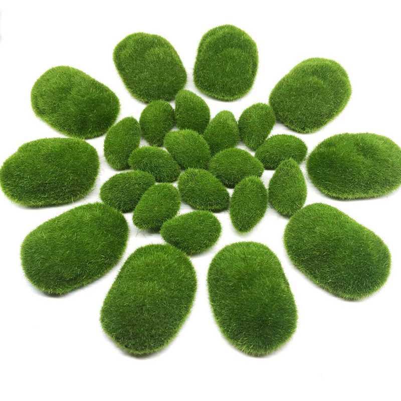25 PCS 2 Superficie artificiale Moss rocce decorative, del muschio verde palle, Finto Decor per le disposizioni floreali, giardini e Crafting
