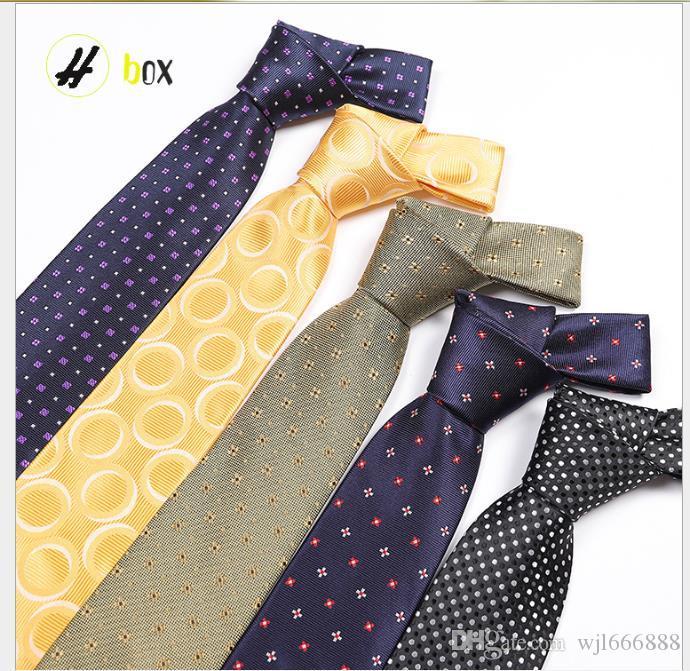 Tie Men's Polyester Silk Polar Point Tie