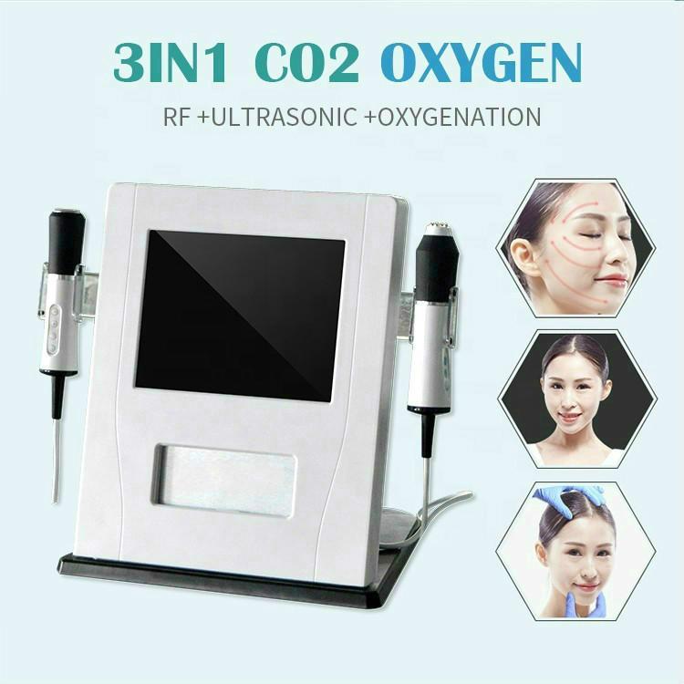 La dernière technologie 3 en 1 CO2 Oxygen Jet Peel Oxygénation machine du visage pour les soins de la peau Traitement de l'acné