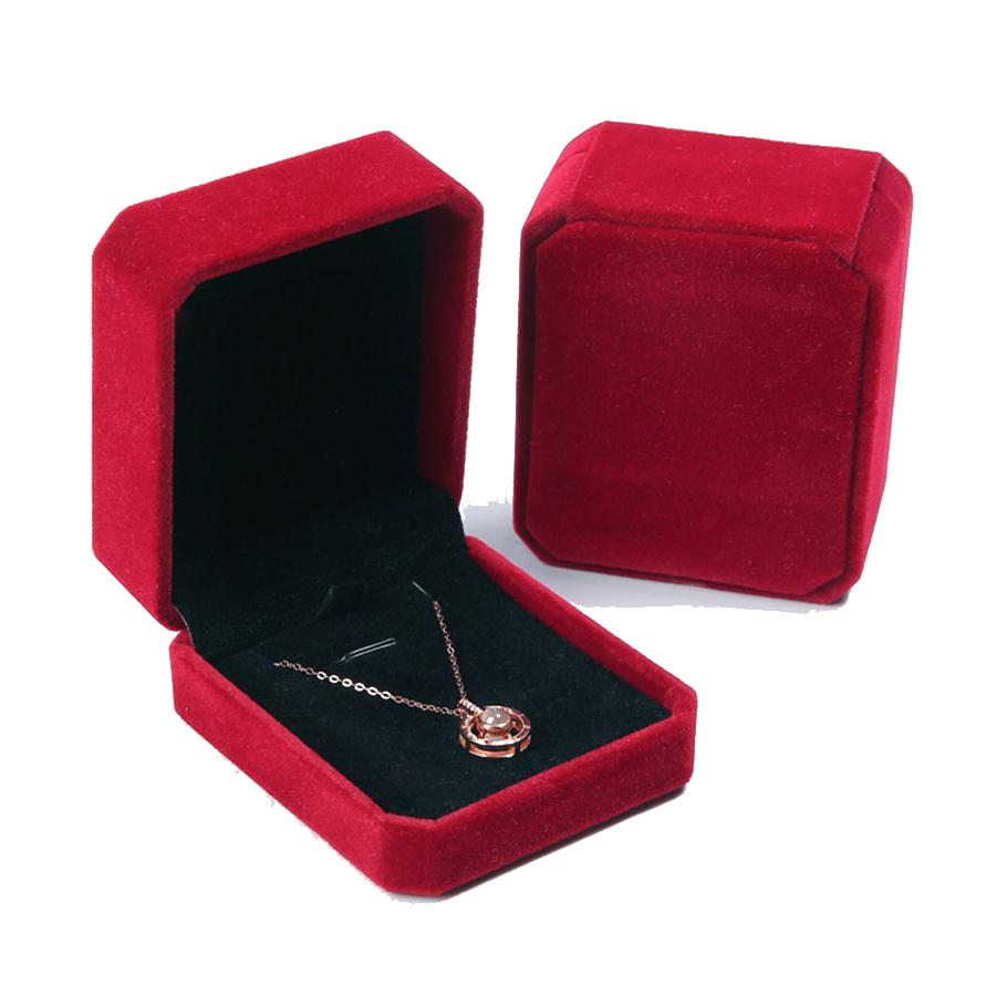 Romantic Wedding Xmas Party Earring Ring Pendant Jewelry Velvet Box Display Case
