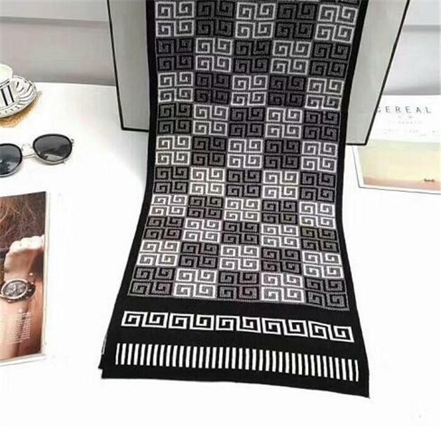 2020 Nova marca high-end designer de moda quatro scarf luxo cachecol xale unisex pescoço longo tendência lenço praia viagem 22w w22