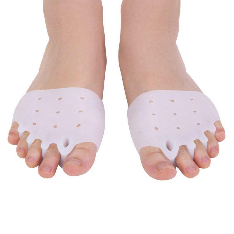 2pcs / Coppia silicone Toe confortevole bretelle a 5 fori alluce valgo raddrizzatore ortodontico piede Bretelle punta per Foot Care 517D