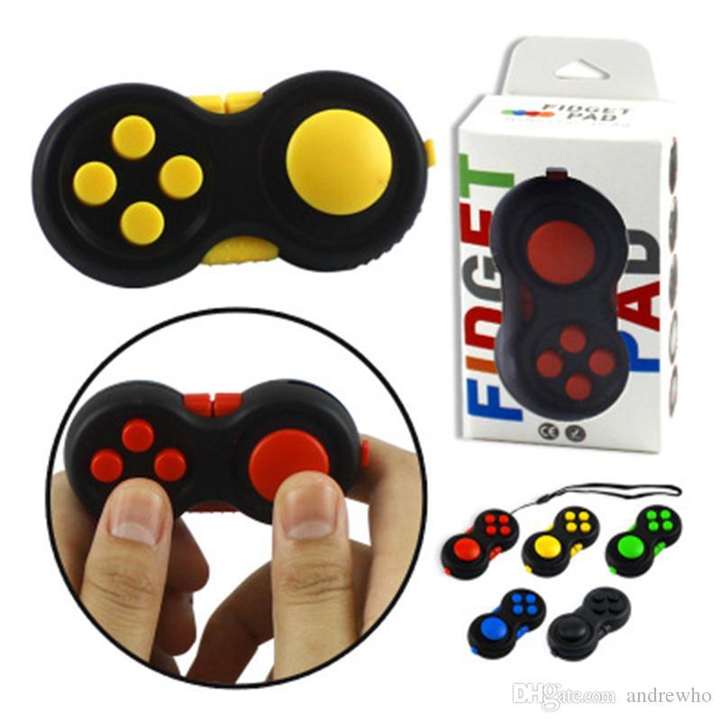 6 Cores Controladores de Jogo Magic Fidget Pad Cubo Gamepad Crianças Lidar Com Brinquedo Adultos Alívio do Estresse TDAH Crianças Brinquedo descompressão presentes