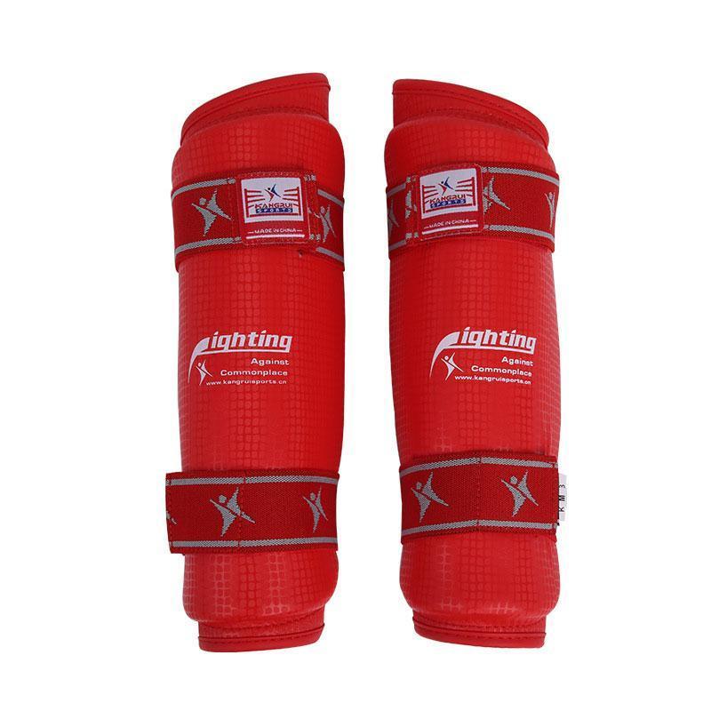 Karate Attrezzi / Taekwondo Shinguard figli adulti Elbow Guardia Shin Protector Kickboxing / Martial / Muay Thai / Sanda / Pugilato