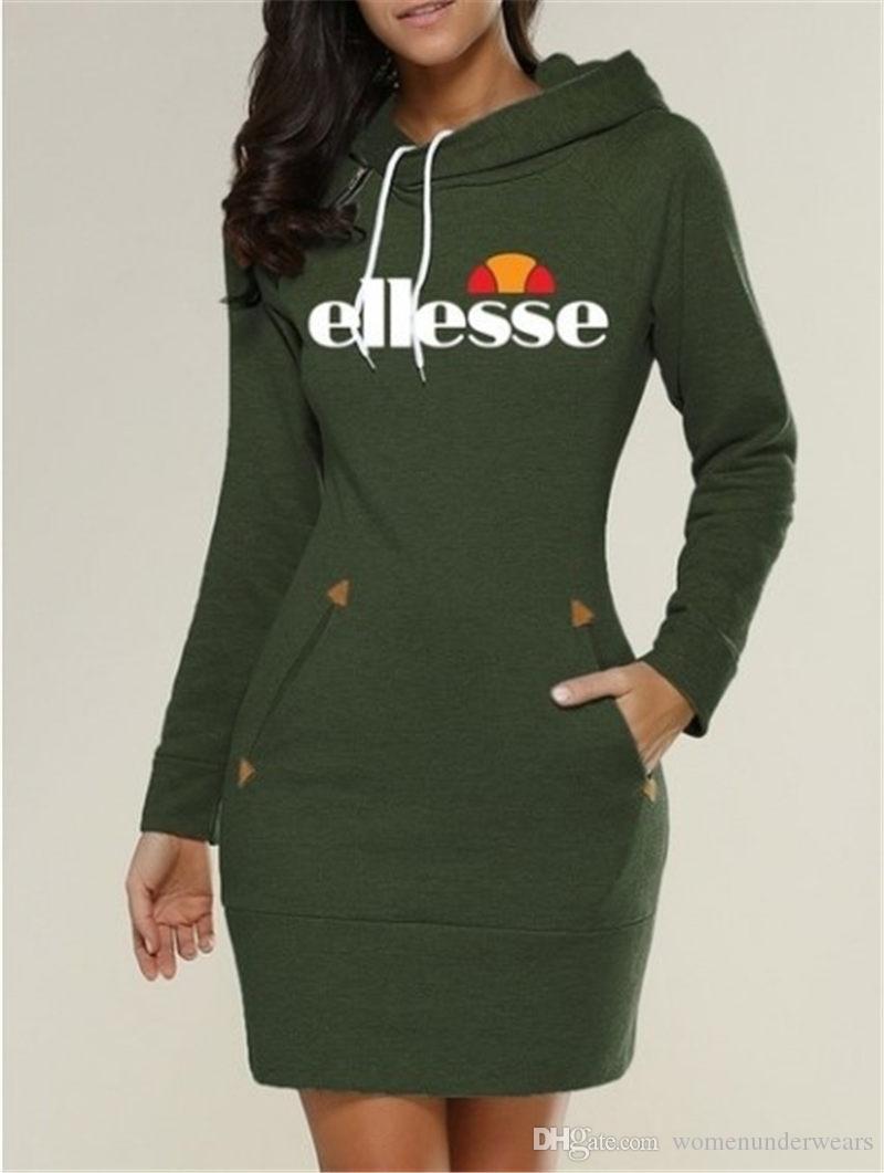 Итальянские модные женские дизайнерские платья с длинным рукавом Повседневные женские платья O-образным вырезом Сплошной цвет Женские платья