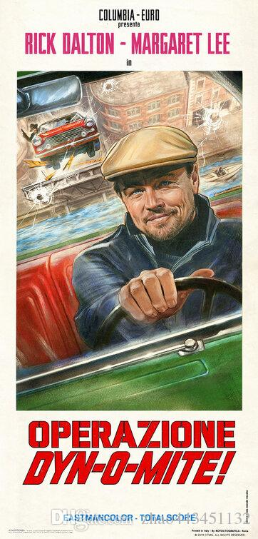 2019 Once Upon a Time in Hollywood poster silk Art nueva película 03
