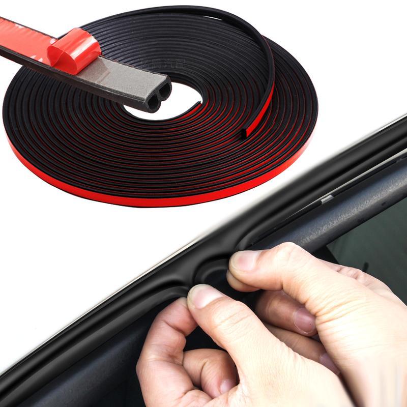 B-Typ-Auto-Tür-Gummi-Dichtung Streifen Auto Double-Layer-Sealing-Aufkleber für Tür-Trunk Schalldämmung Keder Innenausstattung