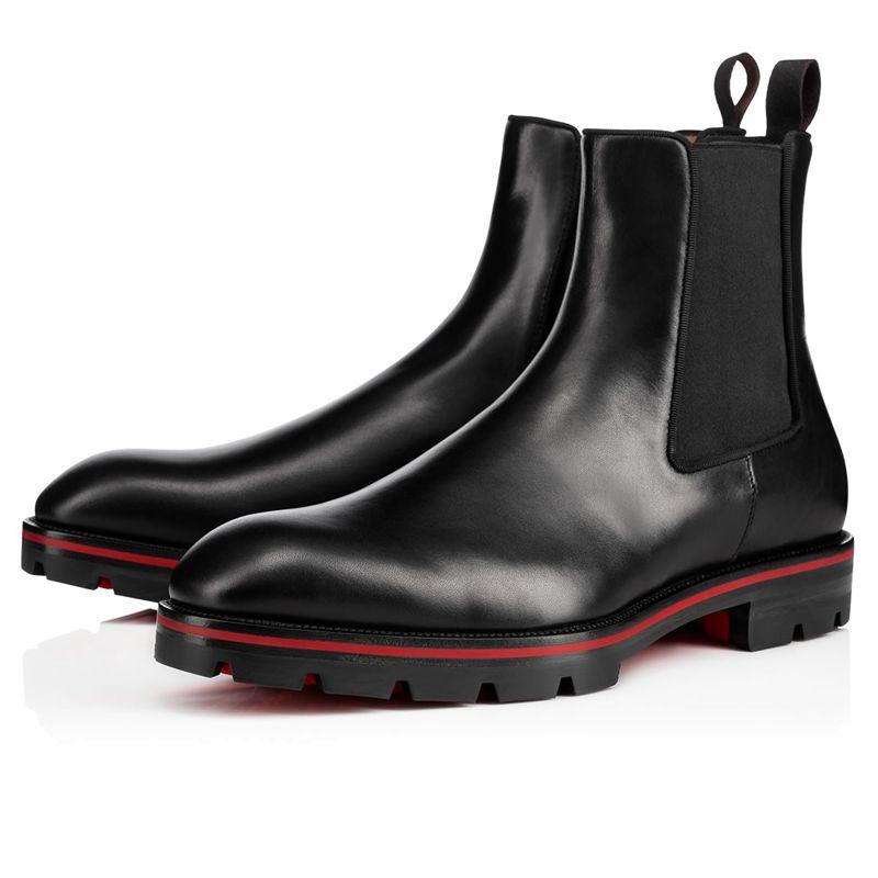 Vendita calda-2019 Scarpe nuovo modo Superstar progettista tacco grosso autunno caviglia Booties Ovest Uomini Crepe Stivali Nero Marrone Tactical piatto Boot