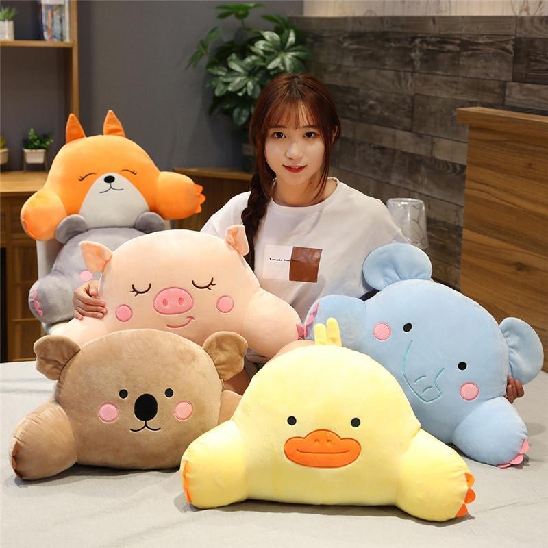 Kawaii New Soft DuckPigMouseKoala Plush Lumbar Support Cartoon Animal FoxElephant Dolly Sofa